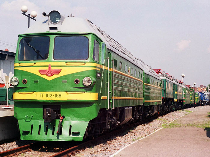 Тепловозы локомотивного депо попасная