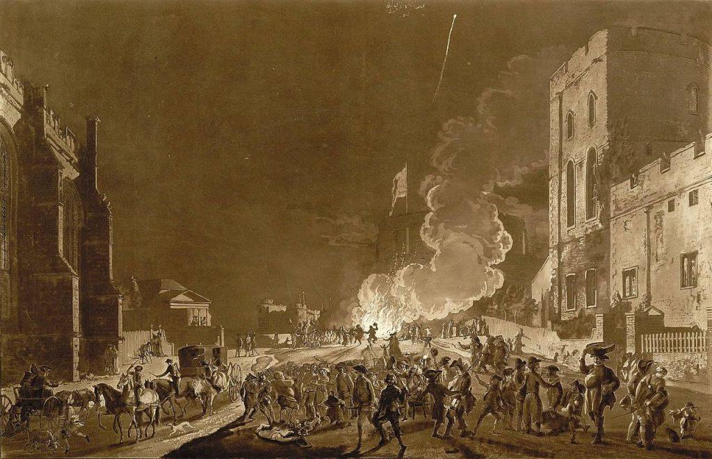 Ночь фейерверков у стен Виндзорского замка, 1776 год