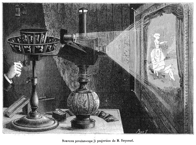 Использование волшебного фонаря для проекции изображения на экран