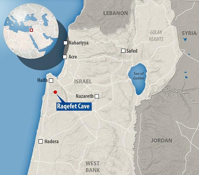 Пещера Ракефет на карте Израиля