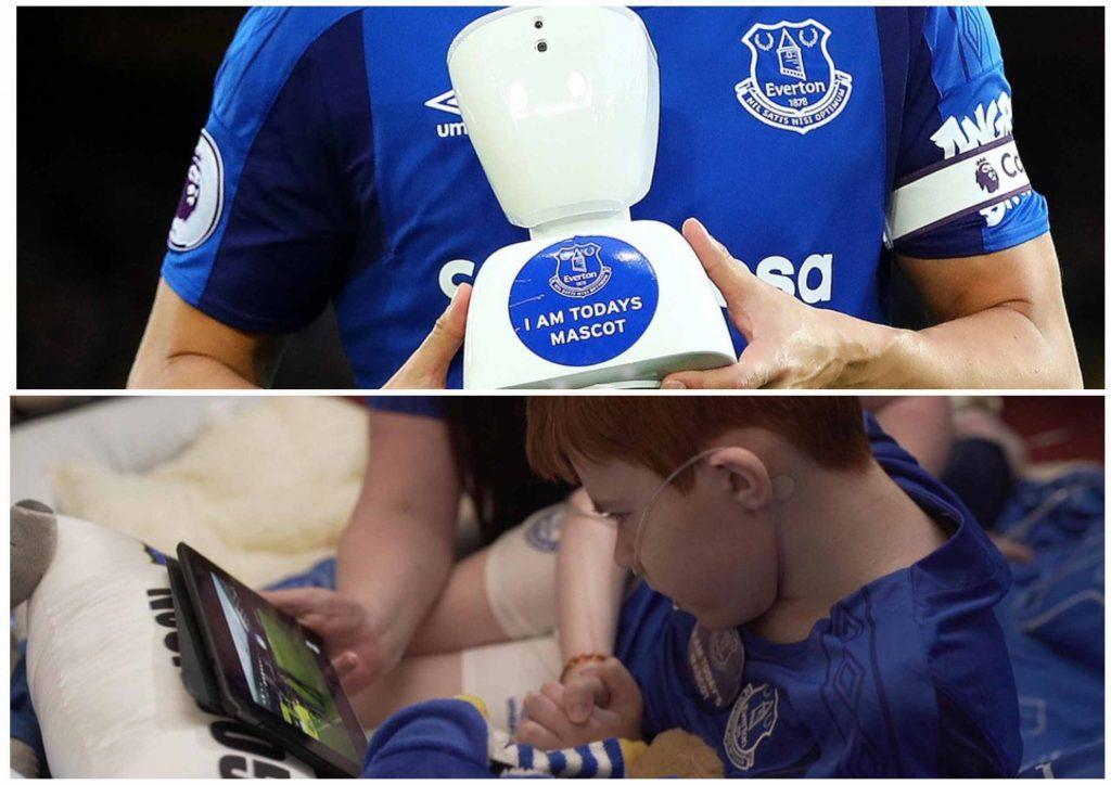 Страдающий от тяжёлого заболевания 14-летний футбольный болельщик Джек Маклинден смог виртуально присутствовать на матче своей любимой команды «Эвертон» с помощью робота AV1