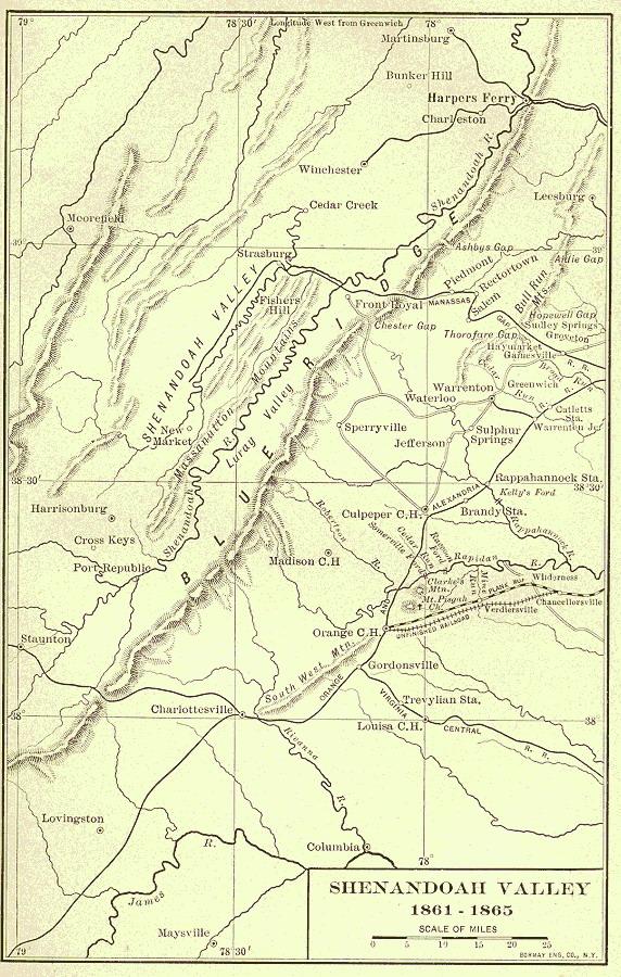 Долина Шенандоа, в которой находится национальный парк