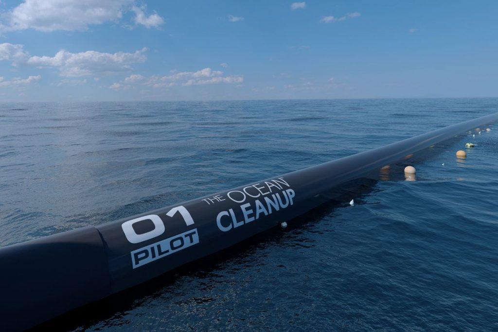 Надводная часть дрейфующей системы The Ocean Cleanup