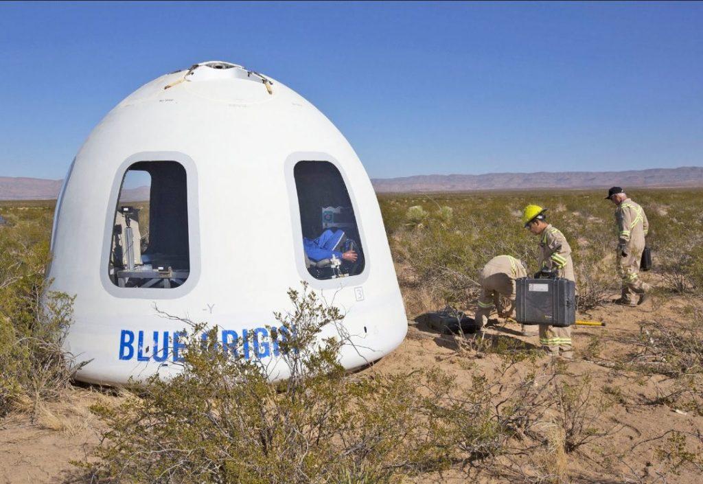 Проведение испытаний космического корабля New Shepard
