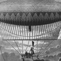 Первый дирижабль с паровым двигателем Анри Жиффара