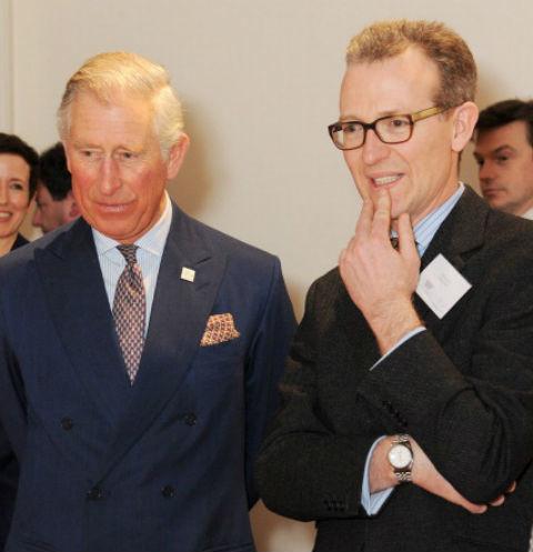 Эшли Хикс с кузеном принцем Чарльзем