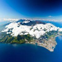 Уникальный вулканический остров Реюньон в Индийском океане