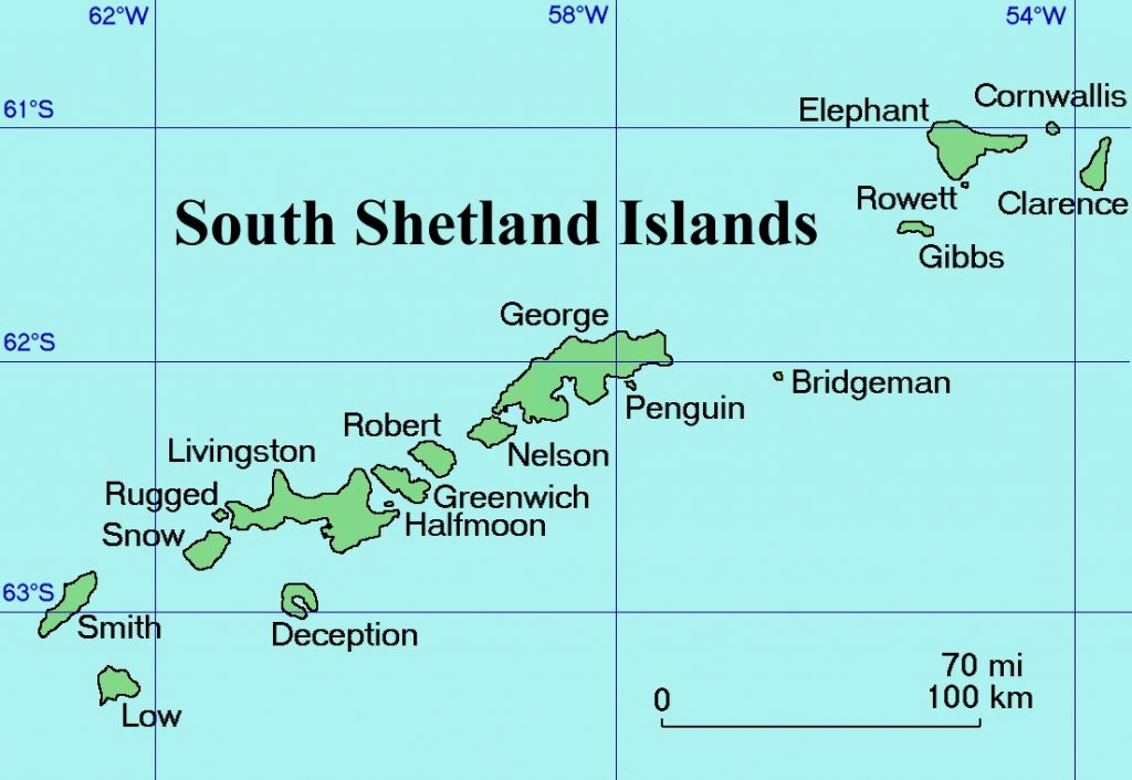 В 1985 году на Южных Шетландских островах к северу от Антарктического полуострова был найден череп чилийской женщины.