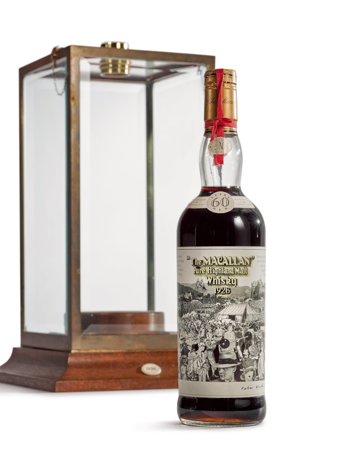Macallan 1926 60-Year-Old - этикетка Питера Блейка