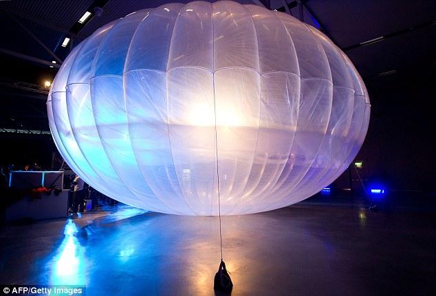 Воздушный шар, используемый в рамках проекта Loon