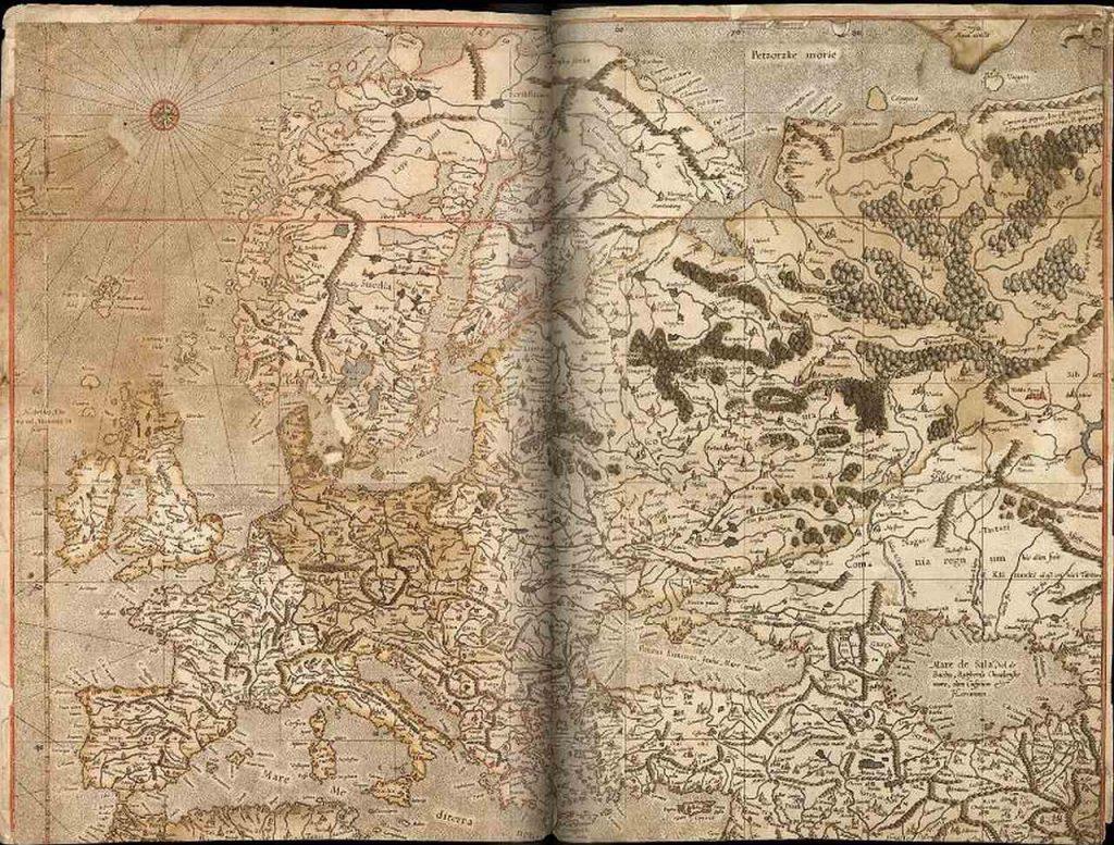 Карта Европы работы Меркатора