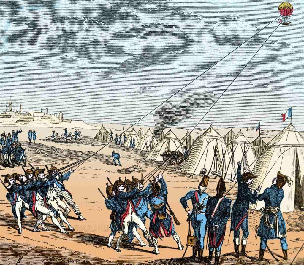 Французские военные использовали аэростаты для разведки ещё в 1794 году