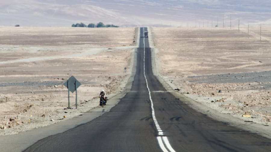 Панамериканское шоссе в Атакаме