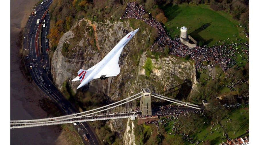 Легендарный снимок последнего полёта Concorde 26 ноября 2003 года
