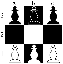 Hexapawn или шестипешие