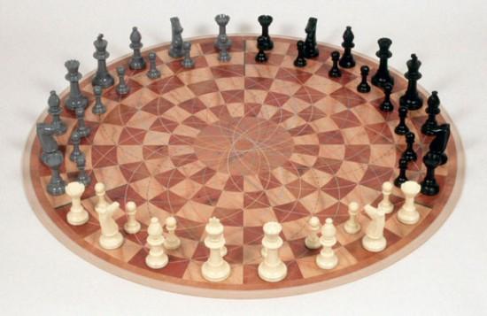Византийские шахматы на круговой доске