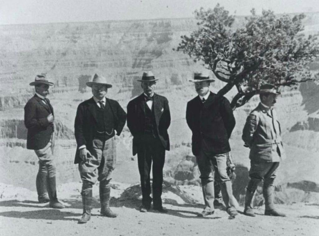 Теодор Рузвельт в Большом каньоне в 1903 году