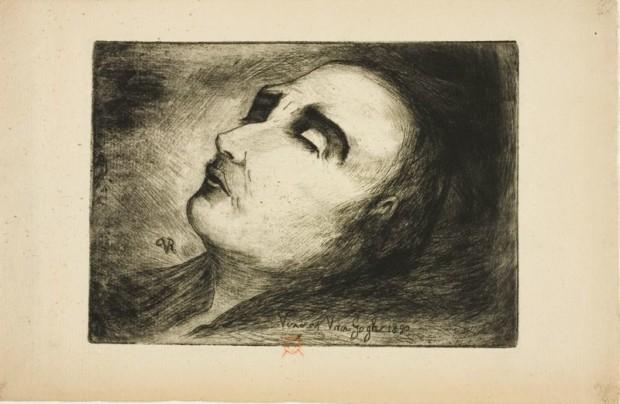 """Ван Гог на смертном одре"" - рисунок Поля Гаше, последнего врача Ван Гога"