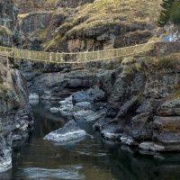 Кесвачака — уникальный подвесной мост Инков