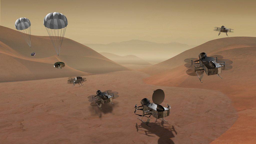Октокоптер Dragonfly отправится изучать Титан