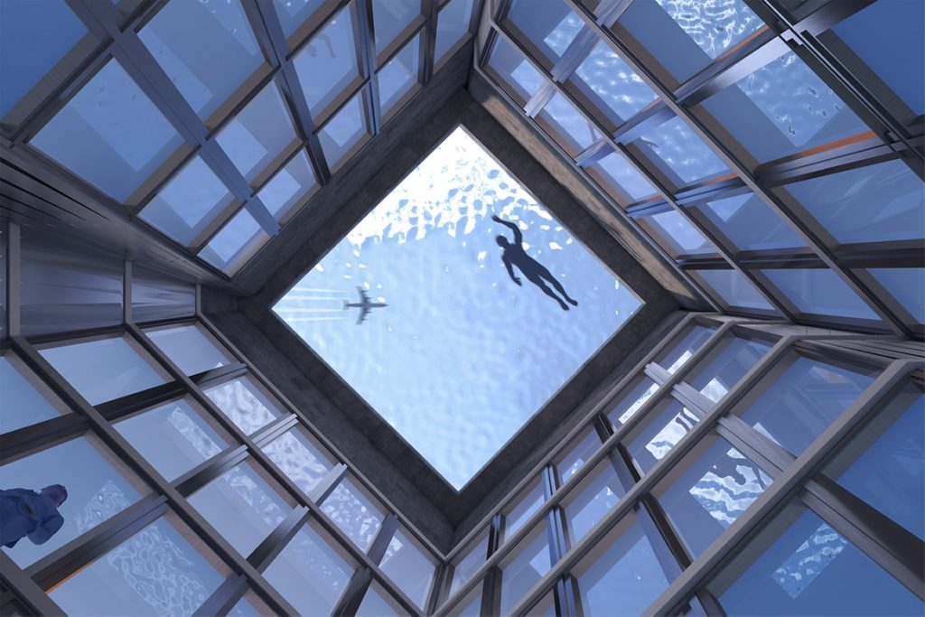 Infinity London: первый в мире панорамный бесконечный бассейн