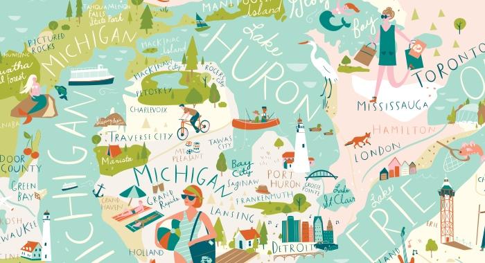 Прекрасные Великие озёра Северной Америки