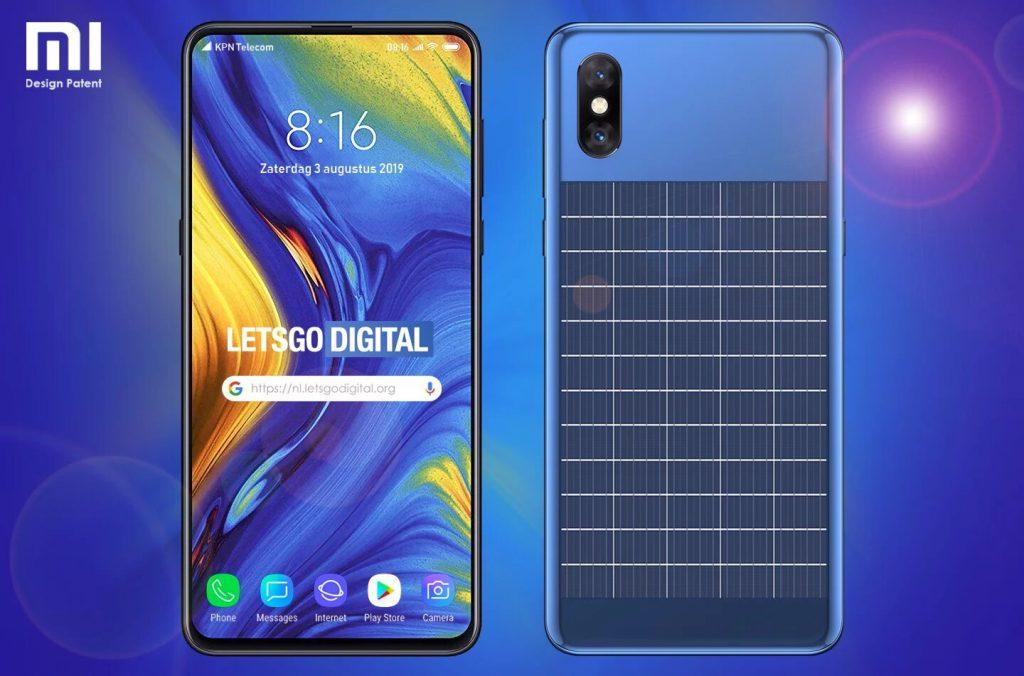 Xiaomi запатентовали дизайн смартфона с солнечной батареей