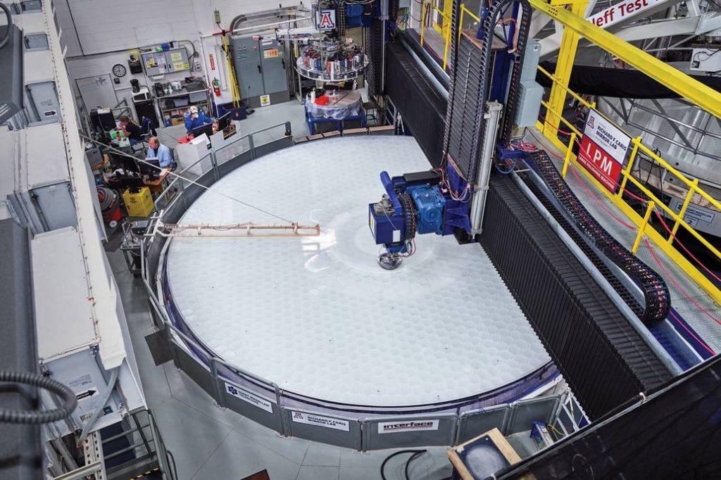 Изготовление оптической системы для Гигантского Магелланова телескопа