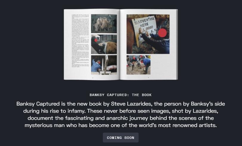 Стив Лазаридес и его книга «Banksy Captured»