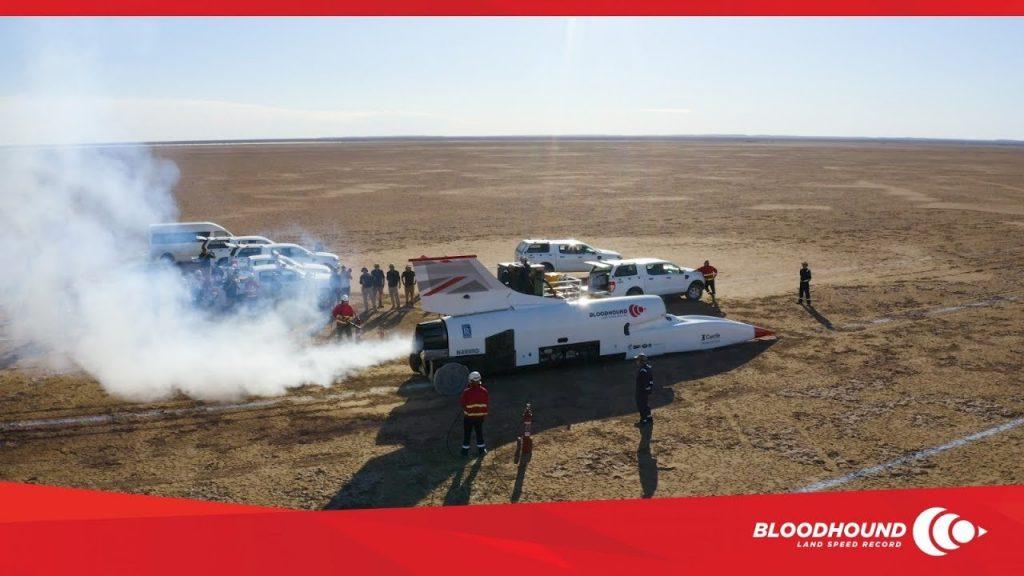 Сверхзвуковой болид Bloodhound LSR разогнался до 742 км/ч