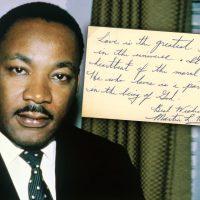 Редкая рукописная записка Мартина Лютера Кинга за $42 000
