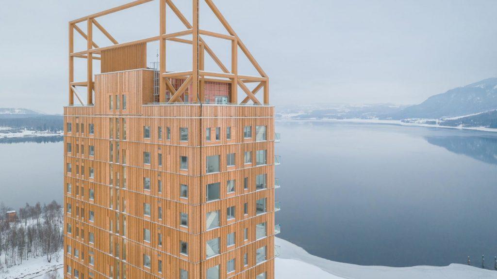 Башня Mjøstårnet: самый высокий деревянный небоскрёб