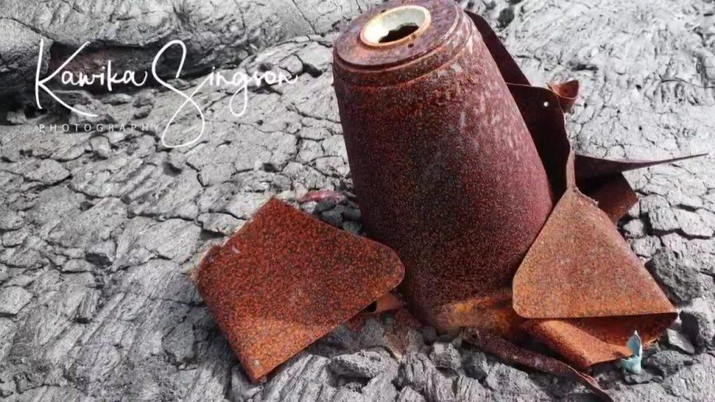 История бомбардировки вулкана Мауна-Лоа