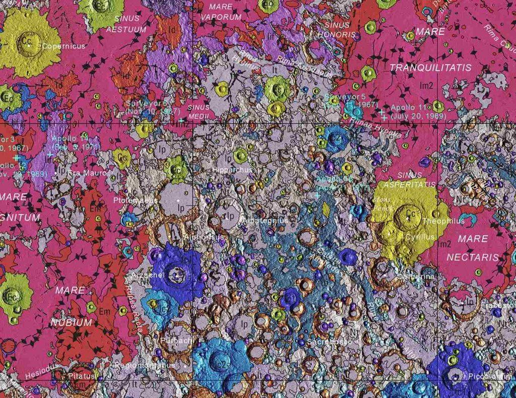 Первая комплексная геологическая карта Луны