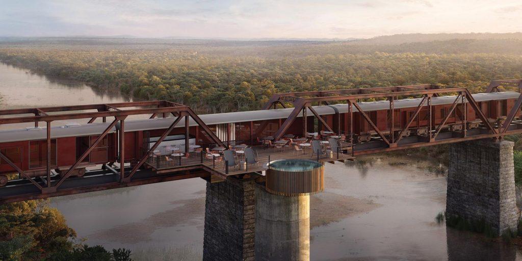 Kruger Shalati: отель-поезд на мосту Селати