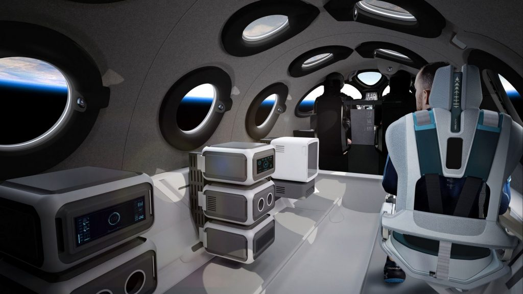 Virgin Galactic показала интерьер корабля класса SpaceShipTwo