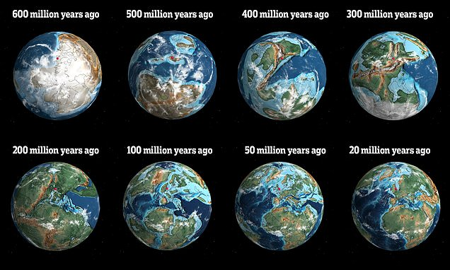 Палеонтолог Иэн Вебстер и его 3D-карта геологической истории Земли