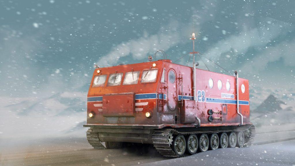 Уникальный антарктический вездеход Харьковчанка