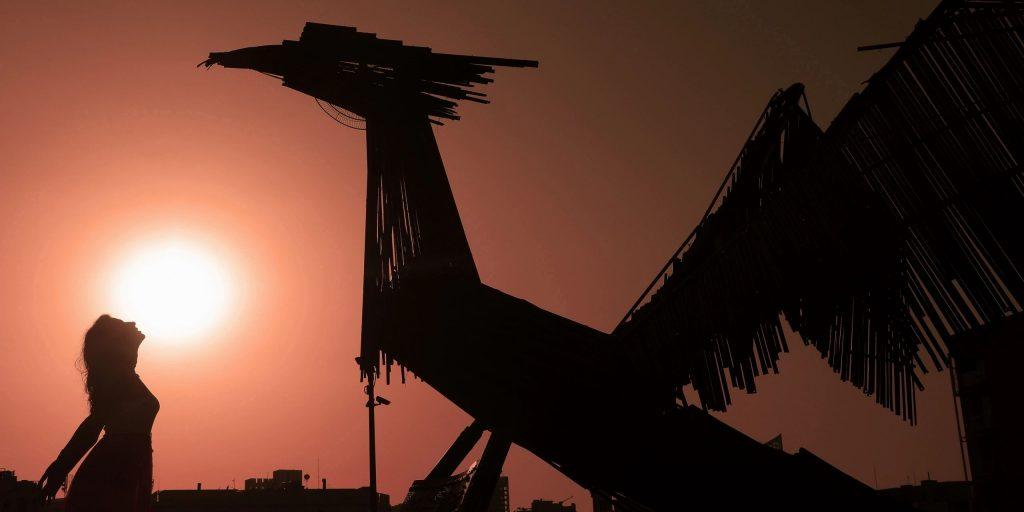 Безымянная скульптура Бейрута Хаят Назер