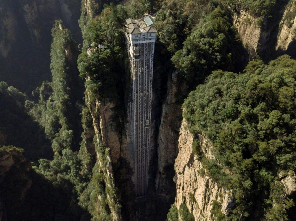 Лифт Байлун – самый высокий внешний лифт в мире