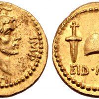 Монета EID MAR, отчеканенная в честь убийства Цезаря, продана за 3,5 млн долларов