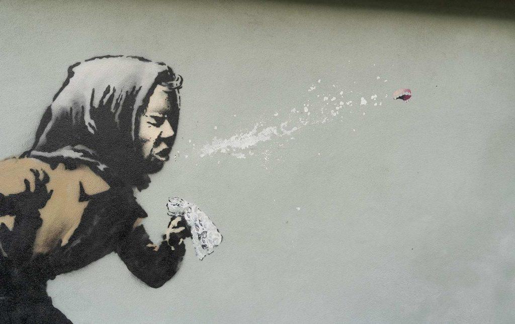 «Aachoo»: в Тоттердауне появилось новое граффити Бэнкси