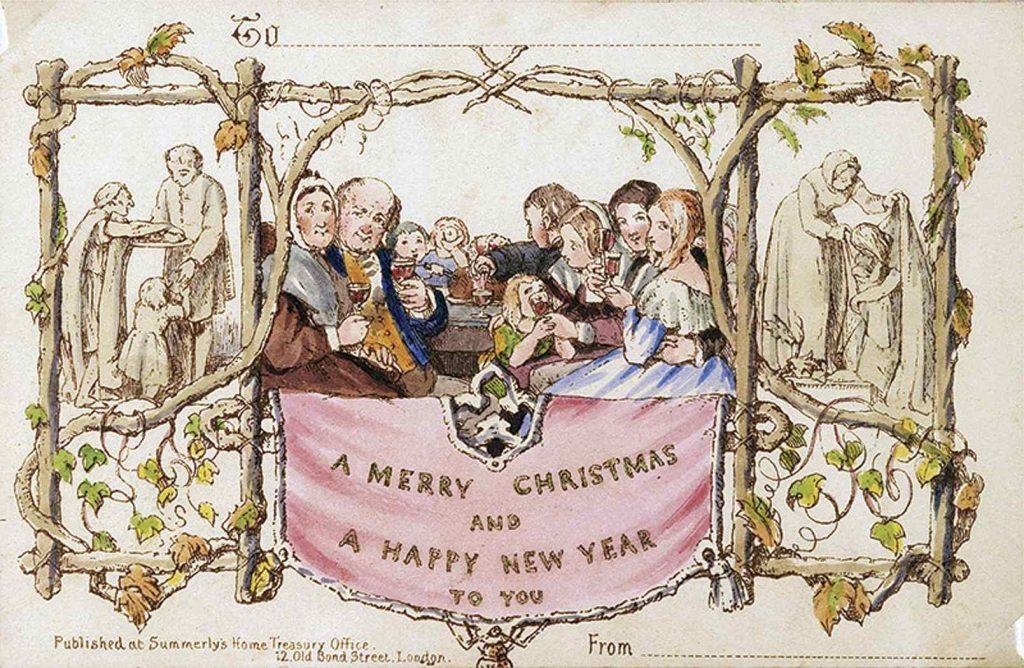 Первая коммерческая рождественская открытка за 25000$