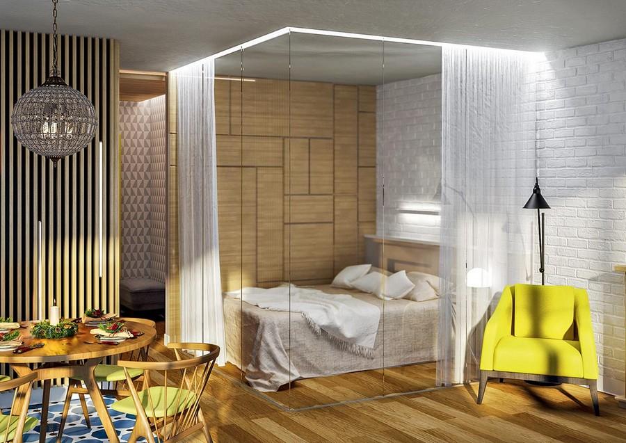 Как зонировать небольшие помещения