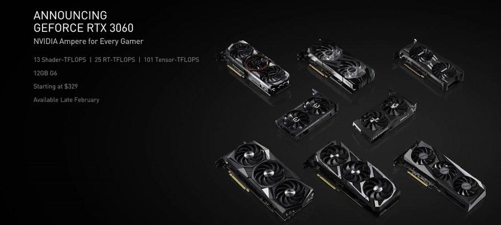 NVIDIA презентовала видеокарту GeForce RTX 3060