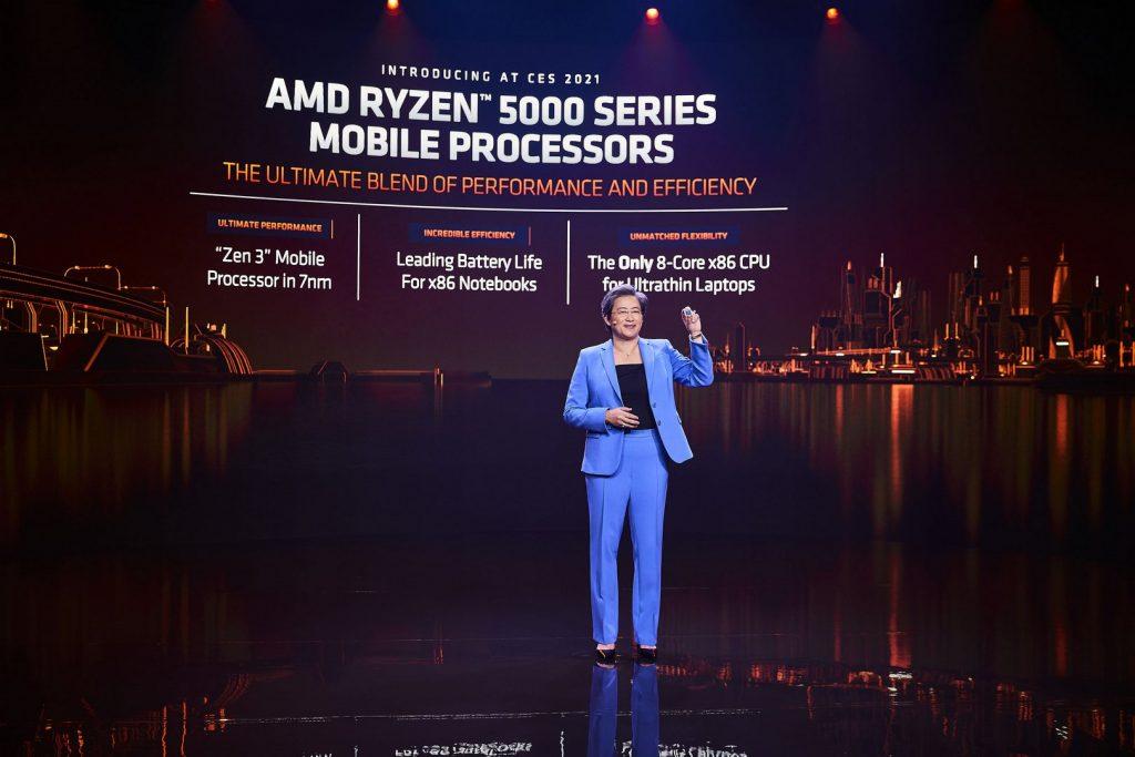 AMD анонсировала линейку мобильных процессоров Ryzen 5000