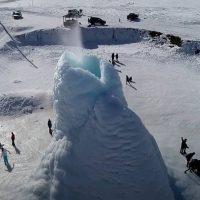 В Казахстане вырос ледяной вулкан