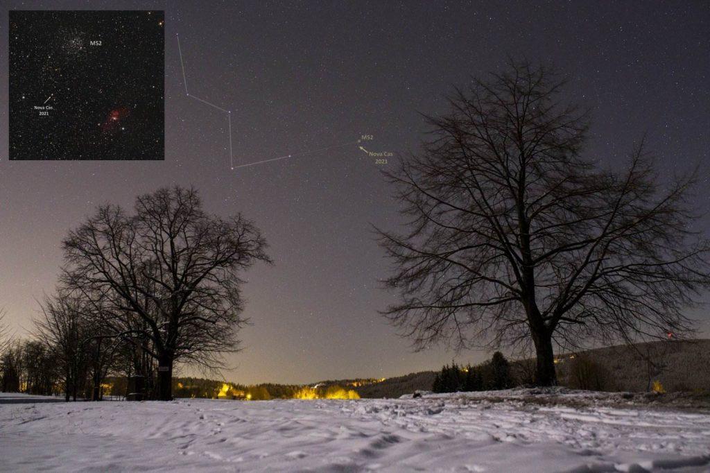 V1405 Cas: в небе вспыхнула новая звезда