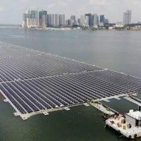 Самая большая морская электростанция на солнечных панелях