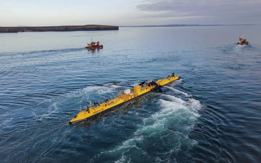 O2 – самая мощная плавающая приливная турбина в мире